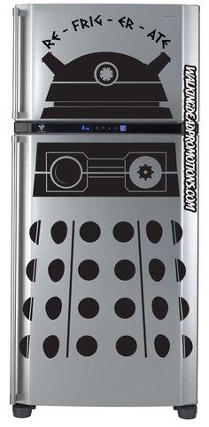 The envy of all kitchens. Doctor Who, Dalek Fridge decal. RE-FRIG-ER-ATE by Walkingdeadpromotion, $34.99