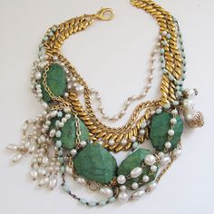 layered statement necklace by kelly framel
