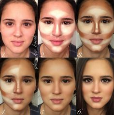 Make up tutorial for contouring and highlighting www.youniqueprodu… www.gordit… Make up tutorial for contouring and highlighting www.youniqueprodu… www. Contour Makeup, Contouring And Highlighting, Skin Makeup, Foundation Contouring, Contouring For Beginners, Makeup Tutorial Foundation, Makeup Eyebrows, How To Blend Contouring, Eyebrow Makeup