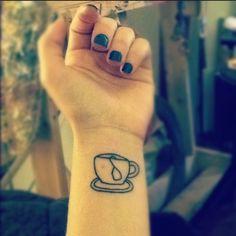Tea tattoo...I'd prob color the tea tag in purple for my fav tea, chamomile