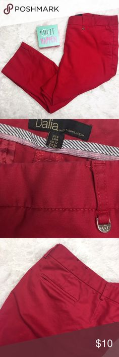 Dalia Red Ankle Crop Pants Good condition - please notice last photo for what appears to be a stain, but I haven't tried to get it out yet so it's highly possible it will come out. Dalia Pants Ankle & Cropped