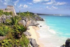Tulum in Mexico is tops for turquoise water and ancient ruins Tulum Mexico, Riviera Maya, Cancun, Cruise Ship Names, Kia Ora, Tulum Tours, Cenotes Tulum, Rue Bonaparte, Best Romantic Getaways