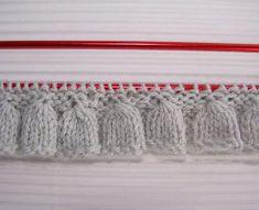 tutoriales en video y con gráficos para hacer puntillas para prendas de punto a dos agujas, knit ruffles and edgings