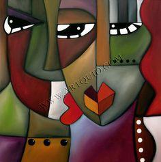 Innovative art | Paintings, Original abstract modern cubist art portrait by fidostudio ...