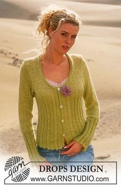 DROPS Cardigan in Alpaca with glitter Free pattern by DROPS Design.