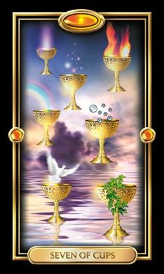 Gilded Tarot  By: Ciro Marchetti You are faced with many choices, opportunities, and dreams. Find inspiration from them where you can. Acknowledge them as distractions if they take you from the path you have chosen.