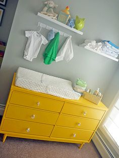 lovely nursery and great tips of what baby wipes will clean!