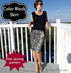 Color Block Skirt - I originally found this great project on freeneedle.com along with 1,000s of other free sewing and craft ideas!