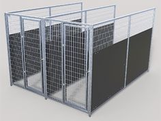 Newest Photos TK Products Pro-Series Backless Multi-Run Dog Kennels - Indoor/Out. Newest Photos TK Products Pro-Series Backless Multi-Run Dog Kennels – Indoor/Outdoor Welded Wire Heavy Duty Dog Kennel, Wire Dog Kennel, Cat Kennel, Outdoor Dog, Indoor Outdoor, Pet Daycare, Dog Kennel Designs, Kennel Ideas, Dog Kennels For Sale