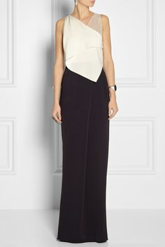 3.1 Phillip Lim Silk chiffon-trimmed crepe gown