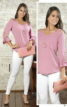 A stylish night out with the boyfriend husband look nightout womensclothing womensfashion mystyle Casual Wear, Casual Outfits, Cute Outfits, Casual Shirt, Blouse Styles, Blouse Designs, White Jeans Outfit, Winter Mode, Pinterest Fashion