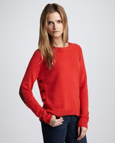 Elbow-Patch Sweater by Autumn Cashmere at Neiman Marcus.
