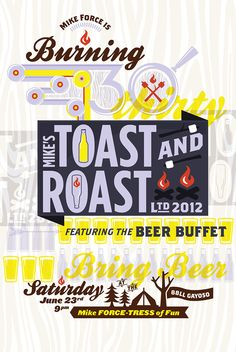 /// Mike's Toast + Roast Poster