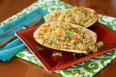 Gluten-free Friday: Eggplant boats with millet and vegetables