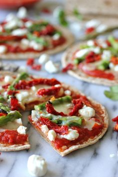 Whole Wheat Veggie Flatbread Pizza - These individual flatbreads are perfect for portion control!