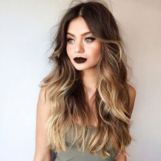 If you're looking for an in-between hair 'do that really rocks, these 27 stunning blonde highlights for dark hair looks definitely tick all the right boxes. Ombre Hair, Dark Hair With Highlights, Color Highlights, Balayage Highlights, Beautiful Hair Color, Gorgeous Blonde, Beautiful Women, Blonde Color, Hair Tutorials