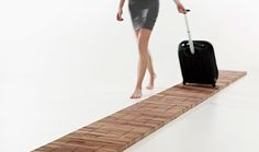 A musical floor that is played by dragging a suitcase across it. By Jeriël Bobbe. via joshspear.com.