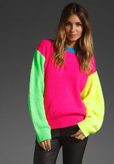 JOYRICH Neon Ribbed Sweater in Multi at Revolve Clothing - Free Shipping!