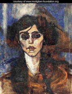 Portrait of Maude Abrantes - Amedeo Modigliani - www.modigliani-foundation.org