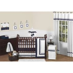 Sweet Jojo Designs 11pc Hotel Crib Set - Navy