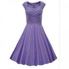 Charming polka dot swinger dress
