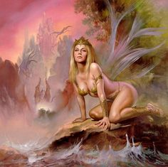 Fantasy Art - Boris Vallejo - Fairy of the Dragons Lair by d_cholito, via Flickr