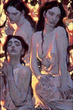 John Watkiss, I saw this painting at Comicon years ago. Art Painting, Fine Art, Art Inspo, Figure Painting, Drawings, Amazing Art, Illustration Art, Art, Figurative Art