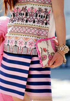 Street style - Love color / pattern combo