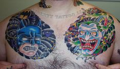 Batman and The Joker   39 Tattoos That Are Basically Works OfArt