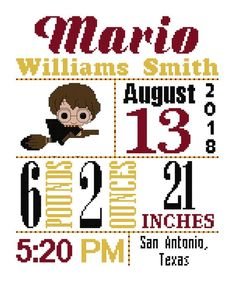 Items similar to Hermione Birth Announcement Cross Stitch Pattern Baby Cross Stitch baby announcement harry cross stitch harry potter chart on Etsy Harry Potter Cross Stitch Pattern, Cross Stitch Patterns, Cross Stitches, It's A Boy Announcement, Birth Announcements, Cross Stitch Baby, Baby Boy Nurseries, Le Point, Baby Patterns