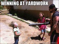 winning at yardwork