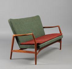 Kurt Olsen; Teak Sofa for A. Andersen & Bohm, 1951.
