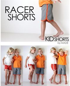 Free instructions for shorts / shorts for children - Nähen - Kids Style Sewing Projects For Kids, Sewing For Kids, Baby Sewing, Diy For Kids, Sewing Crafts, Fabric Crafts, Fashion Sewing, Fashion Kids, Sewing Patterns Free