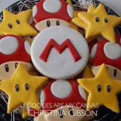 Mario Cookies; Super Mario; Mario Party; cookie favor
