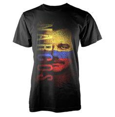 Camiseta Narcos, Flag Face  Camiseta de manga perteneciente a Narcos, bajo el nombre de Flag Face.