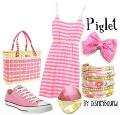 Just because its Piglet!! - Piglet disneybound outfit