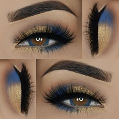 Blue and Gold Eyeshadows, matching the Eye Color
