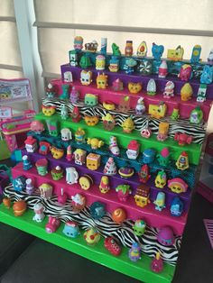 Shopkins display using foam and duck tape
