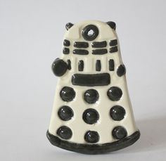 Doctor Who Dalek Ceramic Ornament 50th Anniversary Fan Art Geekery Whovian Alien EXTERMINATE - pinned by pin4etsy.com