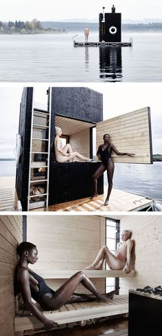 goCstudio have designed the wa_sauna, a privately owned sauna, designed and built to be used year round on Seattle's Lake Union.