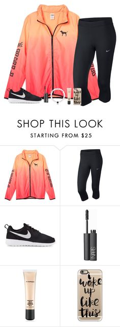"""ootd "" by lilypackard ❤ liked on Polyvore featuring NIKE, NARS Cosmetics, MAC Cosmetics and Casetify"