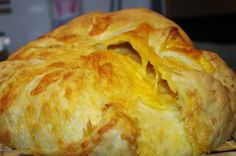 Cheddar Cheese Bread (Bread Machine Assisted). I highly recommend this recipe. Very tasty and next time, I'm going to add chopped jalapeno. Yum! The only problem I had was that it exceeded my bread machine bowl. I had to take it out and bake it in the oven.