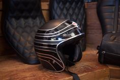 """Throwbacks and retro lids are nice, but nothing beats an original. Back in 1954 Bell founder Roy Richter formed his first helmet out of fiberglass and named it the """"500."""" Bell's Custom 500pays homage"""