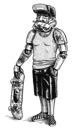 Sci-Fi Skater Illustrations : Jonathan Bergeron