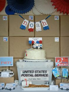 Loving this US Postal Service party!!