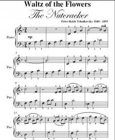 Music Waltz of Flowers | Waltz of the Flowers Nutcracker Suite Tchaikovsky Easy Note Piano ...
