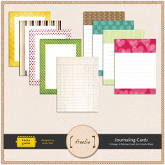 Free journaling cards to print.