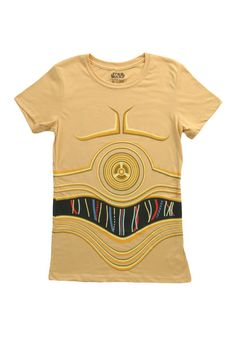 Star Wars Costumes for Women | Womens Star Wars C3PO Costume T-Shirt (Star Wars Diy Costumes Women)