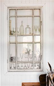 Display cabinets built-in wall