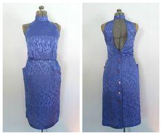Open Back Wiggle Dress Vintage 1980s Cocktail by rileybellavintage, $45.00